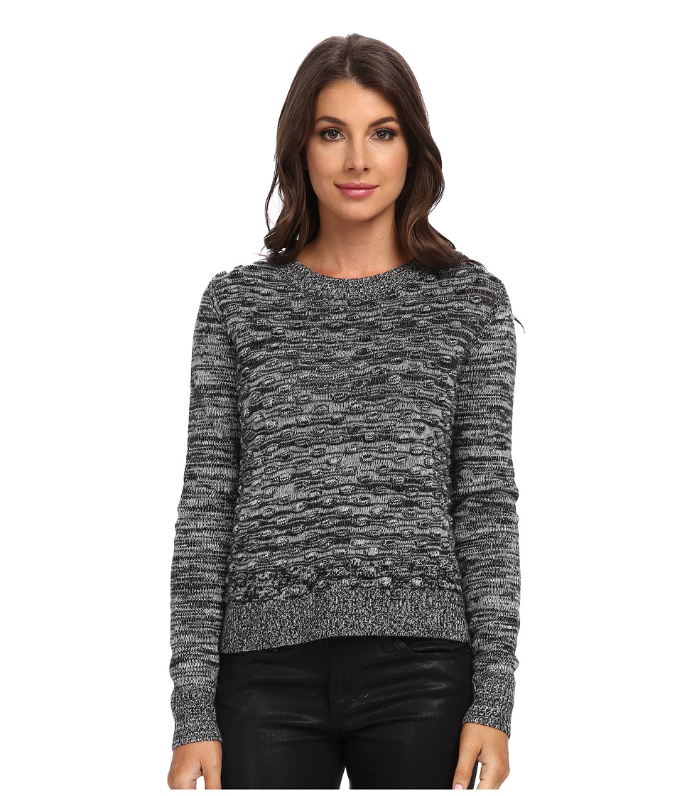 Rebecca Taylor - Pom Pom Pullover (Salt/Pepper Combo) Women's Sweater