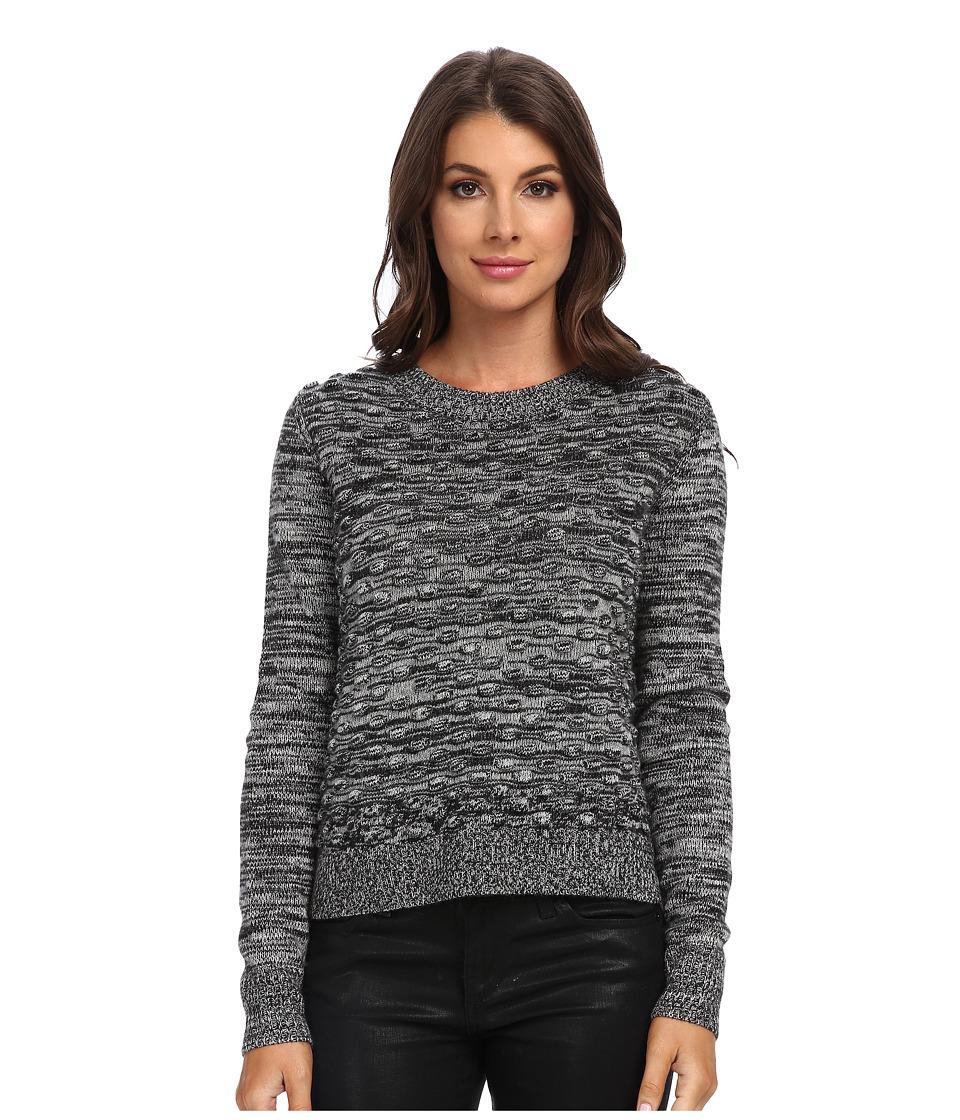 Rebecca Taylor - Pom Pom Pullover (Salt/Pepper Combo) Women's Sweater