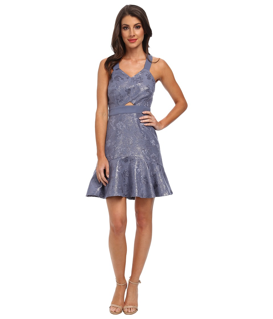 Rebecca Taylor - Foil Halter Dress (Rain Cloud) Women's Dress