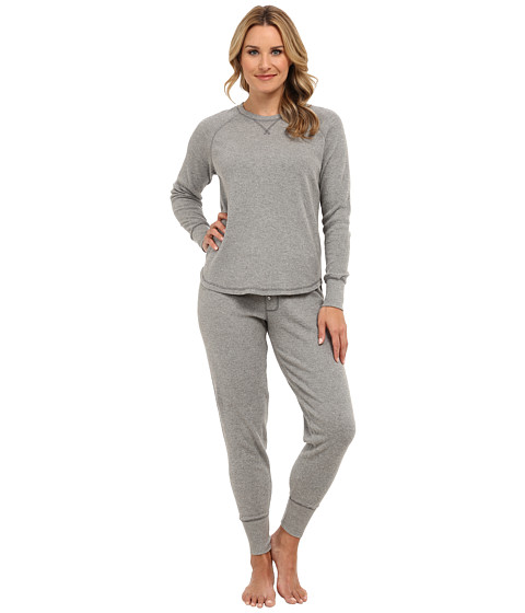 P.J. Salvage - Ski Jammies (Heather Grey) Women's Pajama Sets