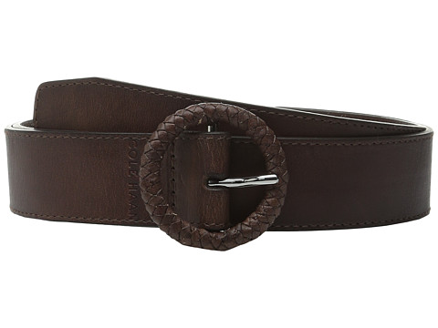 Cole Haan - 42mm Braided C Bar and Logo Emboss (Brown) Women's Belts