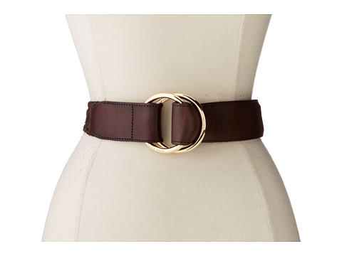 Cole Haan - 42mm Double D Ring Pull Back Braid (Brown) Women's Belts