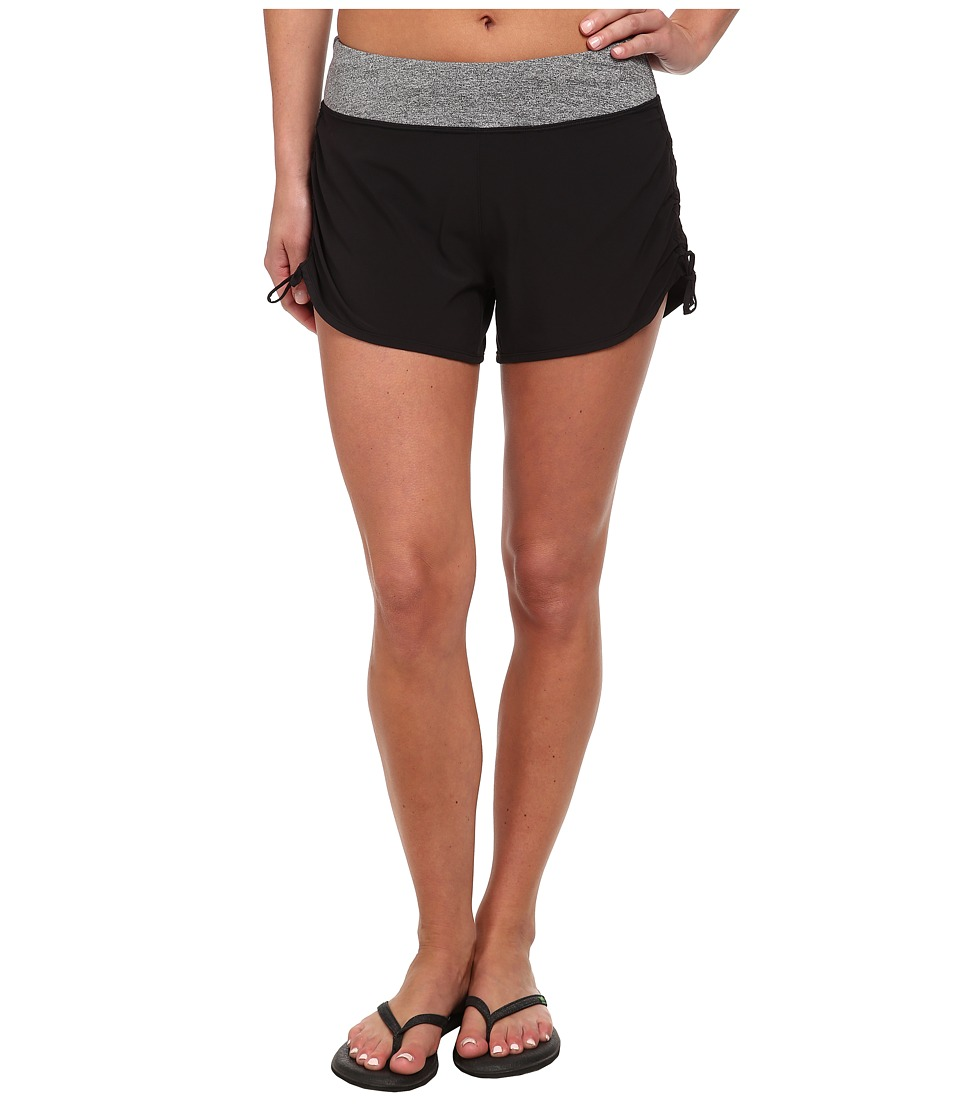 Lucy - Endurance Woven Short (Lucy Black/Light Asphalt Heather) Women's Shorts