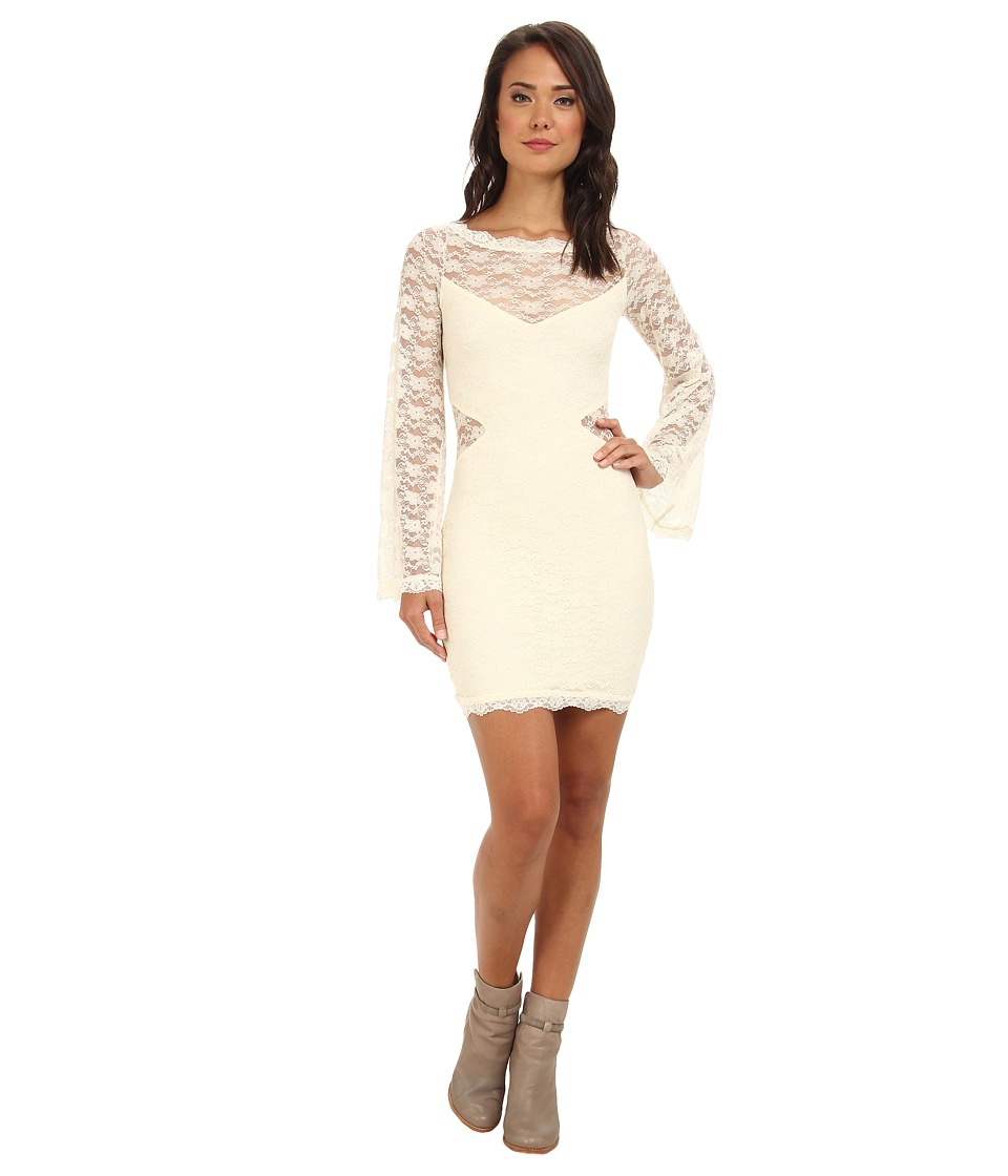 Free People Lovely In Lace Bodycon Dress (Cream Super Soft Leather) Women