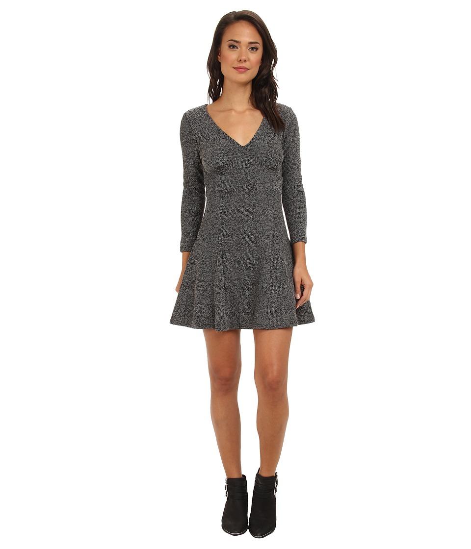 Free People - Heartstopper Mini Dress (Black Combo) Women's Dress