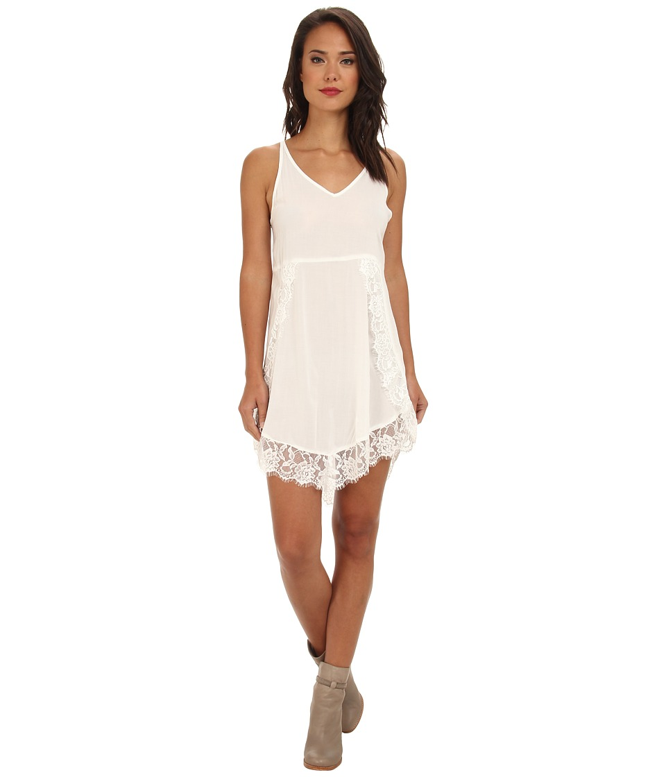 Free People - Eyelashes Slip (Alabaster) Women's Dress