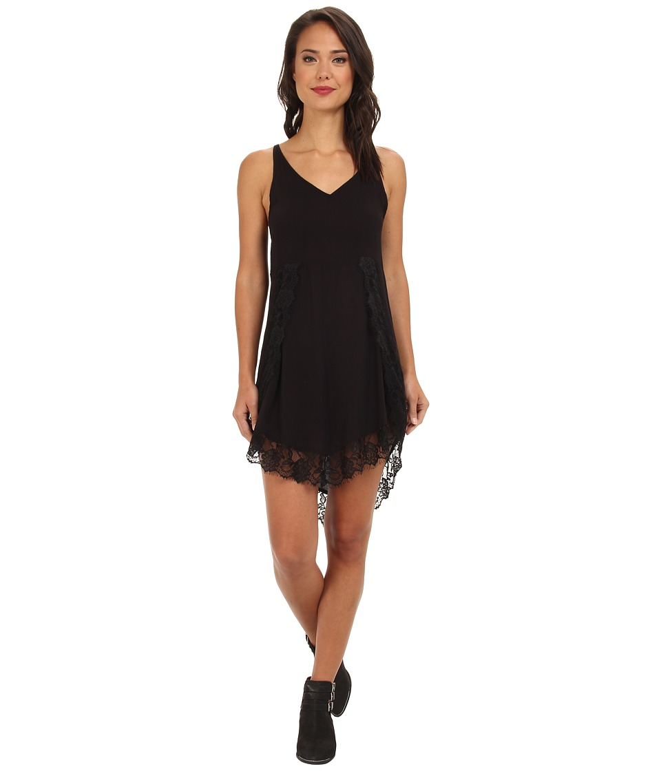 Free People - Eyelashes Slip (Black) Women's Dress
