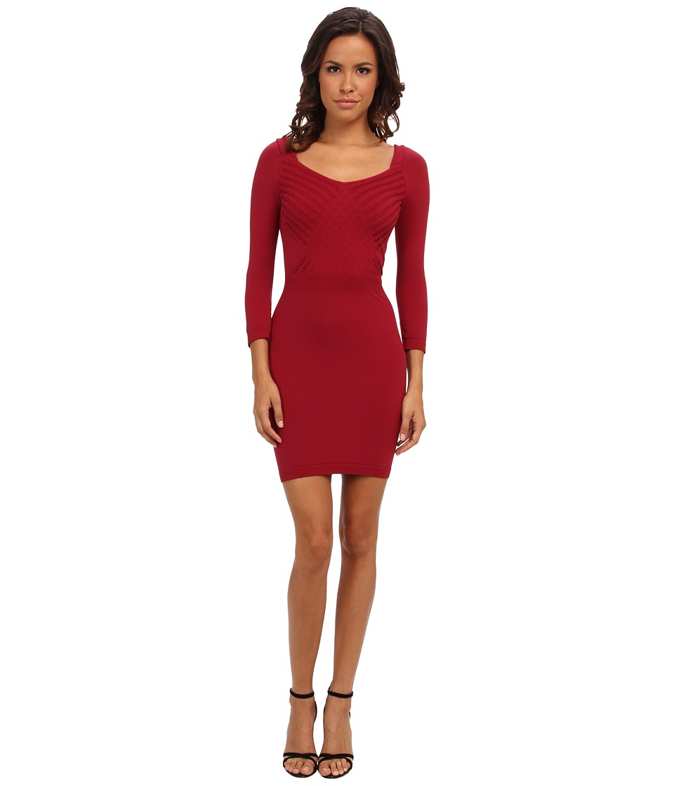 Free People - Seamless Crossover Slip (Crimson) Women's Dress