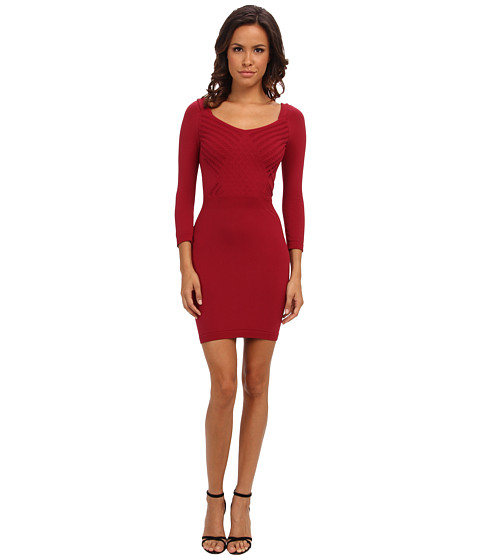 Free People - Seamless Crossover Slip (Crimson) Women's Dress