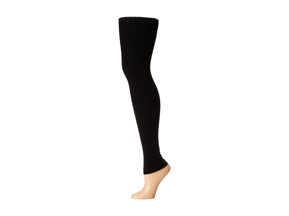 Goodhew - Footless Rib Tight (Black) Women's Thigh High Socks Shoes