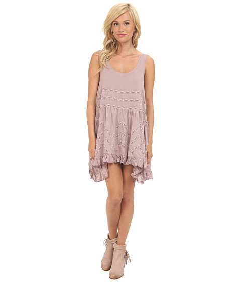 Free People - Voile Trapeze Slip (Misty Pink Combo) Women's Sleeveless