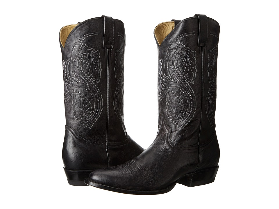 Stetson - 13 Shaft Single Welt Round Toe Boot (Black) Cowboy Boots