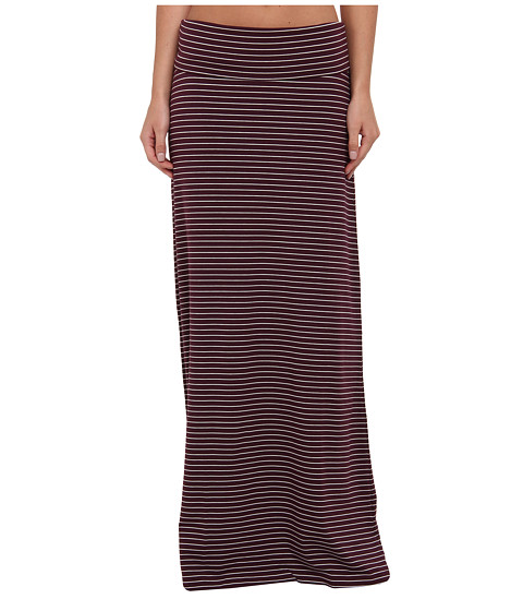 Carve Designs - Abbie Maxi Skirt (Port Stripe) Women's Skirt
