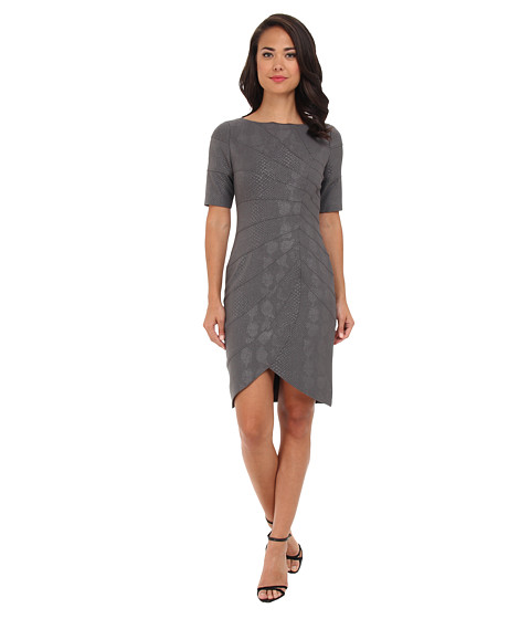 Adrianna Papell - Seam Det Tulip Skirt Dress (Grey) Women's Dress