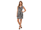 Adrianna Papell Rosette Animal Print Dress