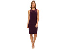Adrianna Papell Sleeveless Lace Framed Banded Dress