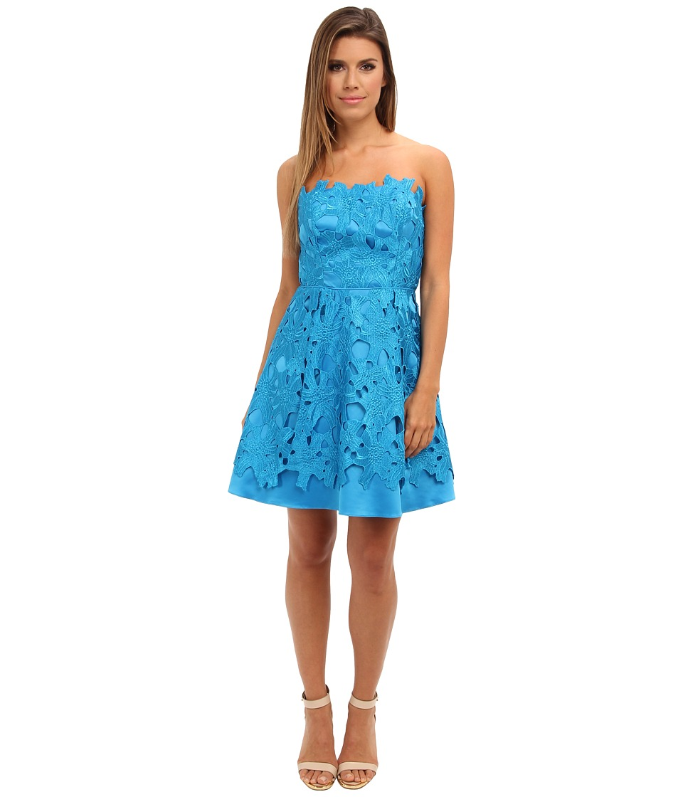 Adrianna Papell - Strapless A-Line Party Dress (Cerulean) Women's Dress