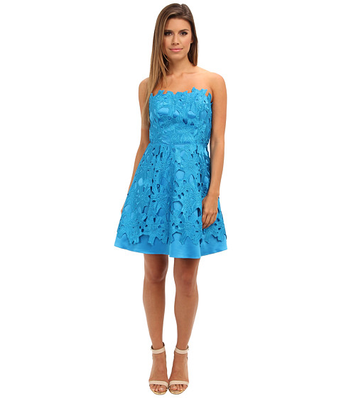 Adrianna Papell - Strapless A-Line Party Dress (Cerulean) Women