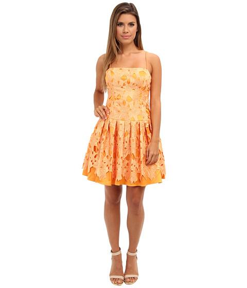 Adrianna Papell - Drop Torso Party Dress (Marigold) Women