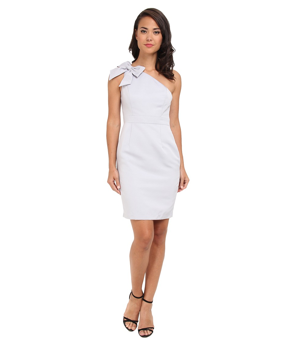 Adrianna Papell - One Shoulder Bow Dress (Dove) Women's Dress
