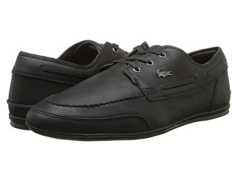 Lacoste - Misano Boat 3 (Black) Men's Shoes