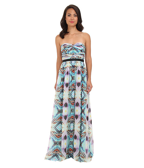 Adrianna Papell - Double Twisted Strapless Gown (Multi Colored) Women's Dress