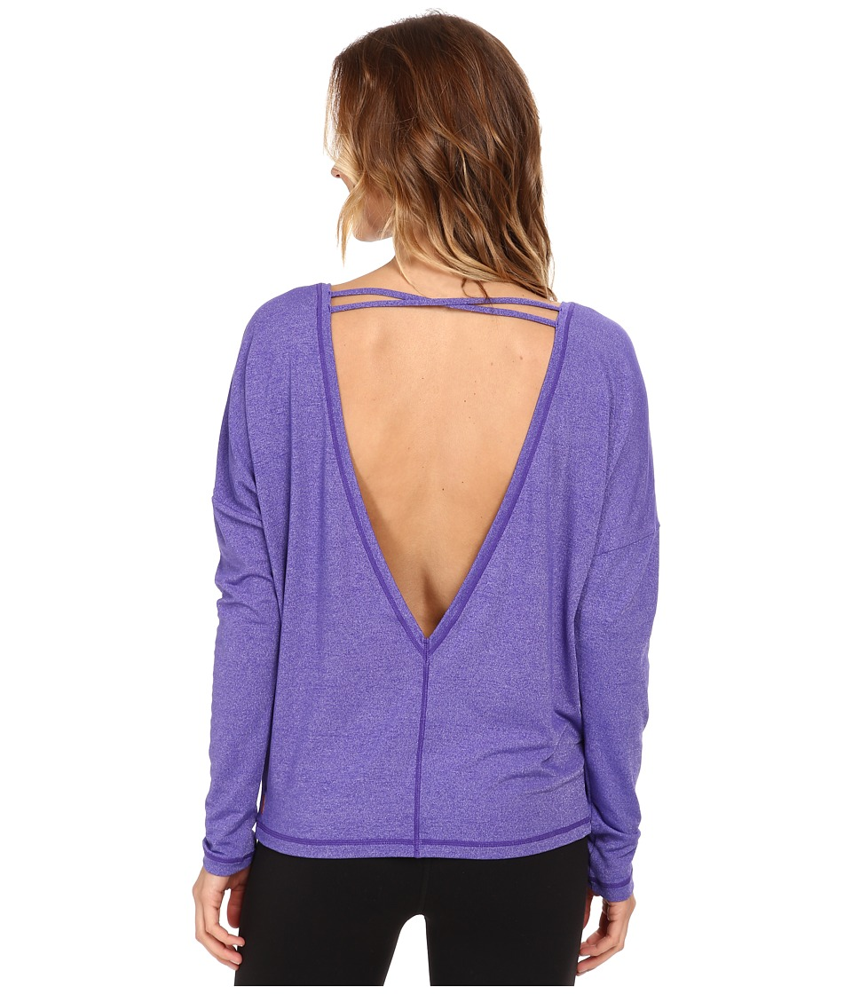 Lucy - Core Up L/S (Indigo Dye Heather) Women's Workout