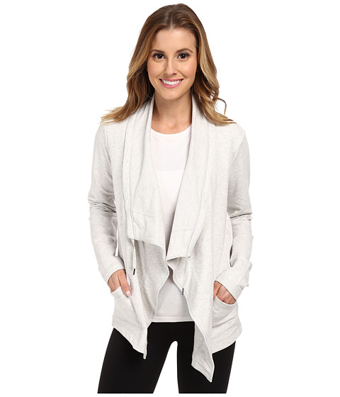 Lucy - Studio Flow Wrap Jacket (Dove Grey Heather) Women's Jacket