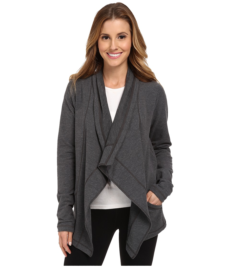 Lucy - Studio Flow Wrap Jacket (Fossil Heather) Women's Jacket