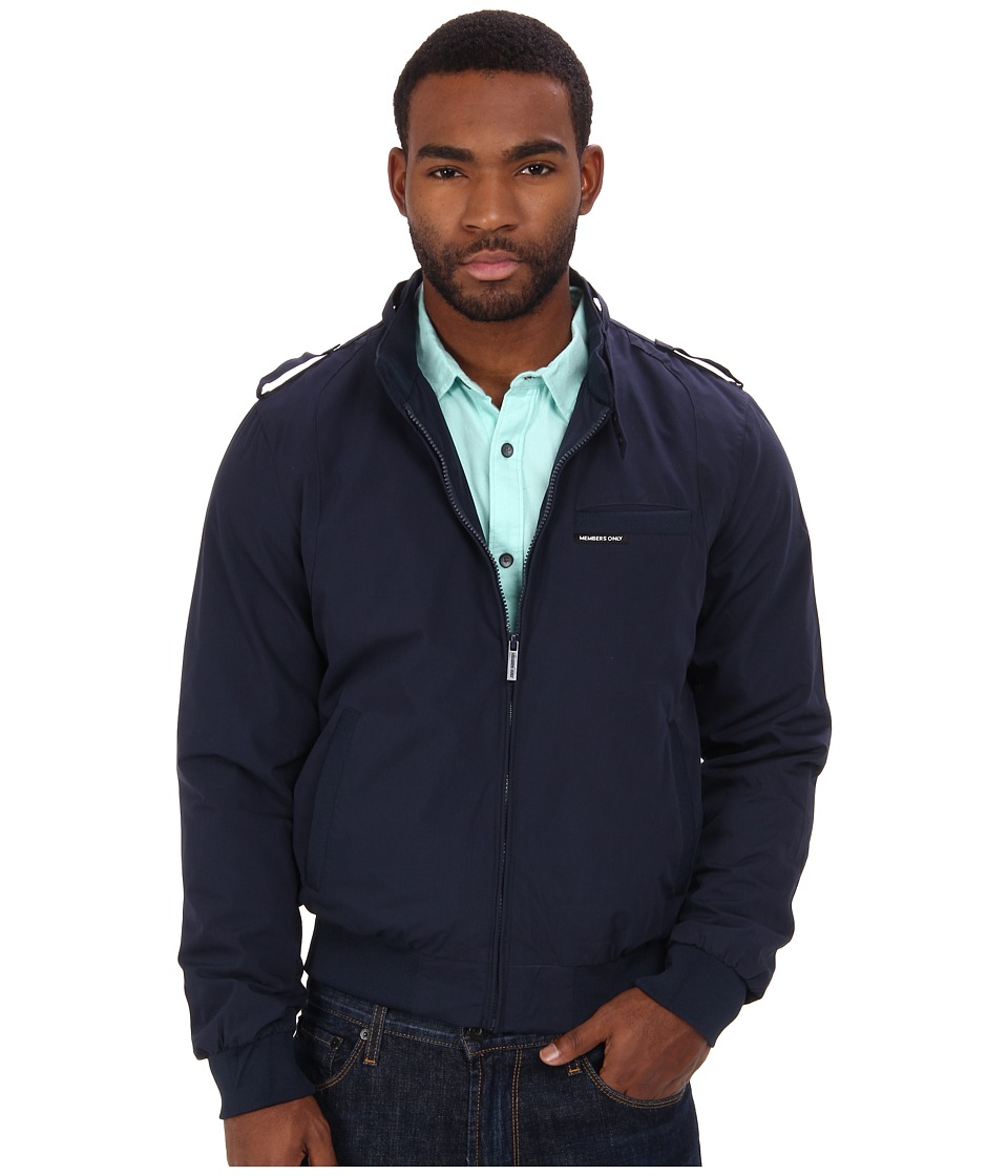 Members Only - Iconic Racer Jacket (Navy 1) Men's Coat