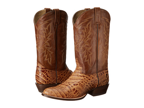 Roper - Printed Caiman Round Toe Boot (Brandy) Cowboy Boots