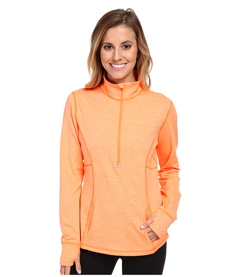 Lucy - Keep The Pace Half Zip (Papaya Heather) Women