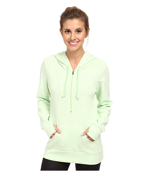Lucy - Sexy Sweat Half Zip (Mint Leaf Heather) Women's Sweatshirt
