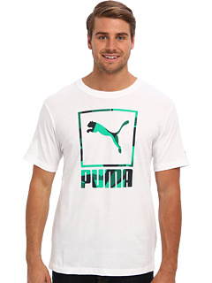 SALE! $12.99 - Save $9 on PUMA Caual Logo Tee (White) Apparel - 40.95% OFF $22.00