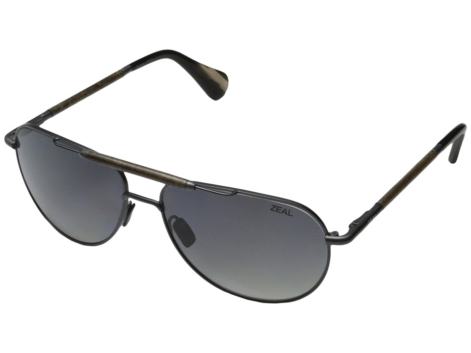 Zeal Optics - Barstow (Colt Steel w / Gradient Polarized Dark Grey Lens) Sport Sunglasses