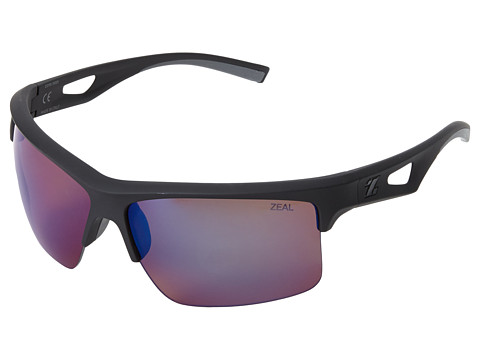 Zeal Optics - Cota (Black w / Polarized Copper + Blue Bird Mirror Lens) Fashion Sunglasses