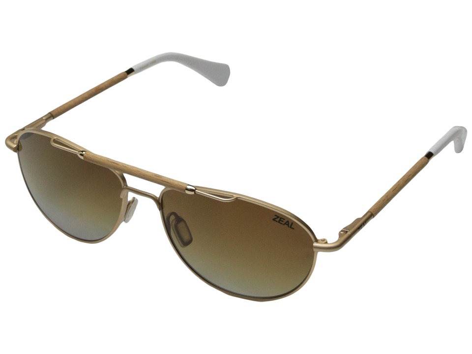 Zeal Optics - Fairmont (Matte Gold w / Gradient Polarized Copper Lens) Fashion Sunglasses