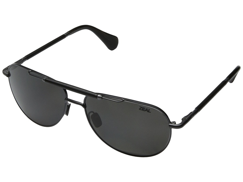 Zeal Optics - Barstow (Polished Steel w / Polarized Dark Grey Lens) Sport Sunglasses