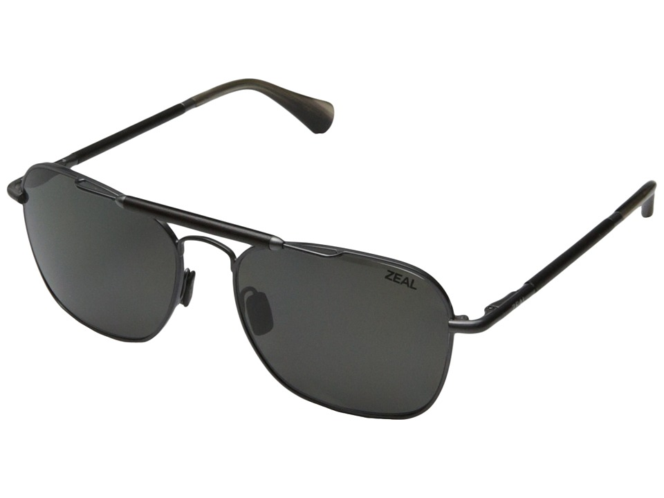 Zeal Optics - Draper (Polished Steel w / Polarized Dark Grey Lens) Fashion Sunglasses
