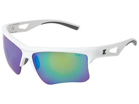 Zeal Optics - Cota Team Edition (White w / Polarized Copper + Jade Mirror Lens) Fashion Sunglasses