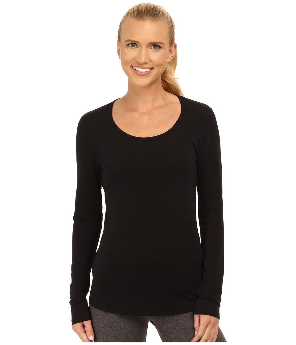 Lucy - L/S Workout Tee (Lucy Black) Women's Workout