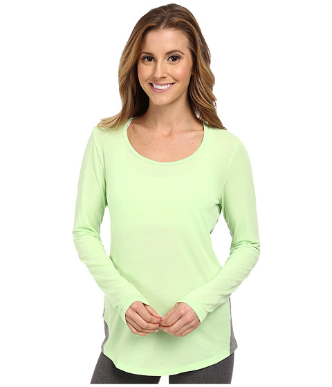 Lucy - L/S Workout Tee (Mint Leaf) Women's Workout