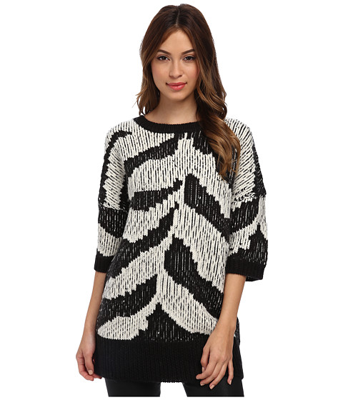 Trina Turk - Roberta Sweater (Black/Ecru) Women's Sweater