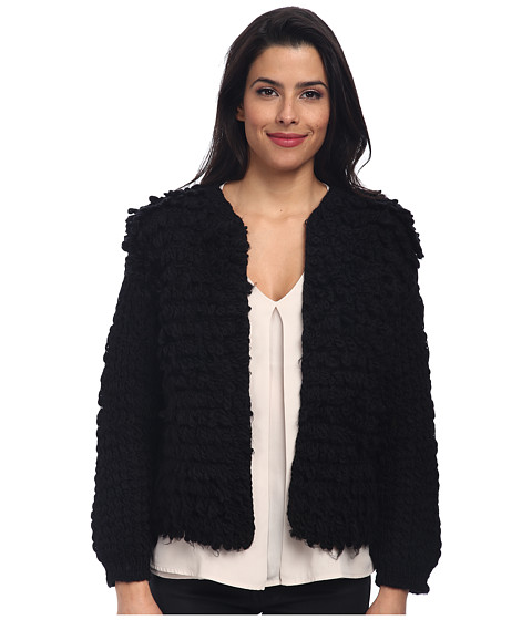 Trina Turk - Shaggy Jacket (Black) Women's Coat