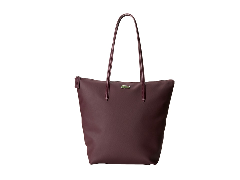 Lacoste - L.12.12 Concept M1 Vertical Tote Bag (Grape Purple) Tote Handbags