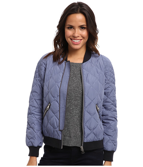 Rebecca Taylor - Quilted Puffer Bomber (Moonstone) Women