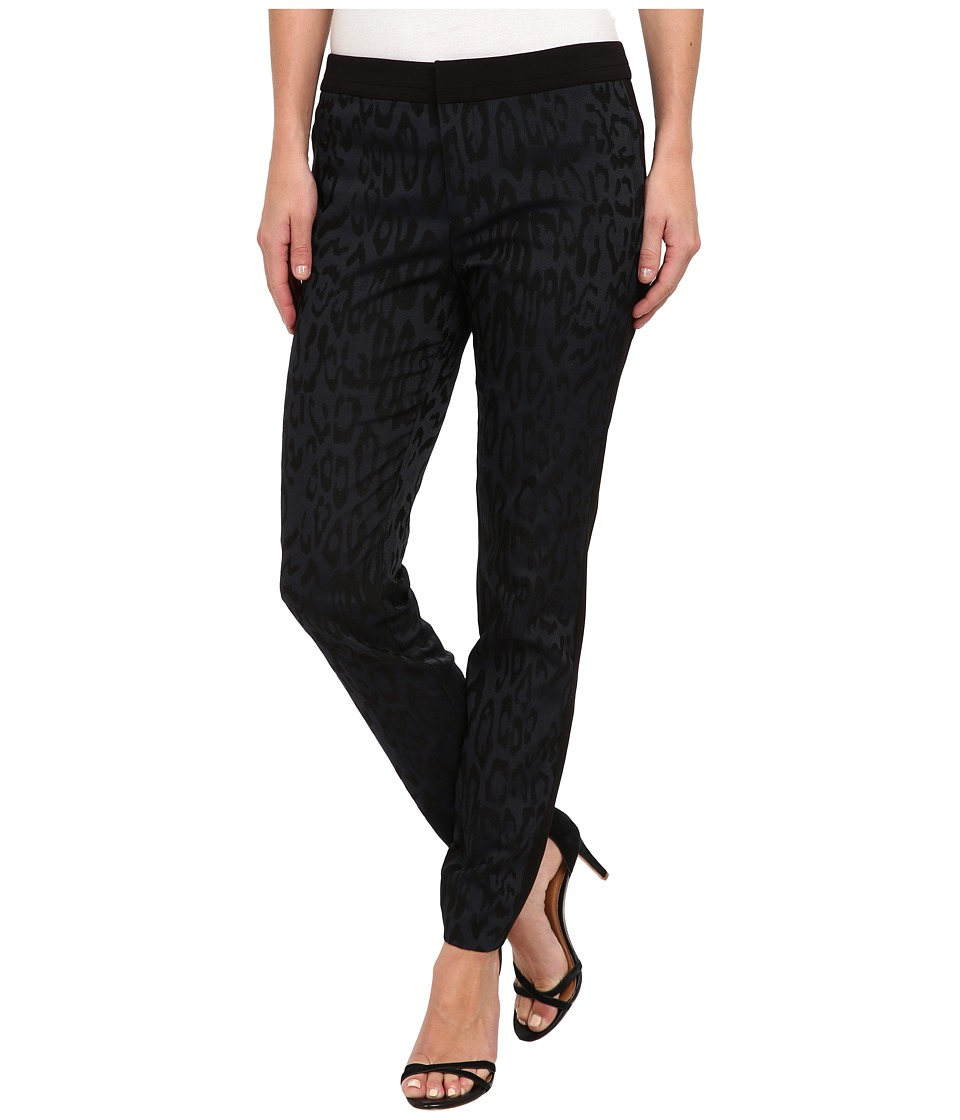 Rebecca Taylor - Leo Brocade Pant (Black/Ink Blue) Women's Casual Pants