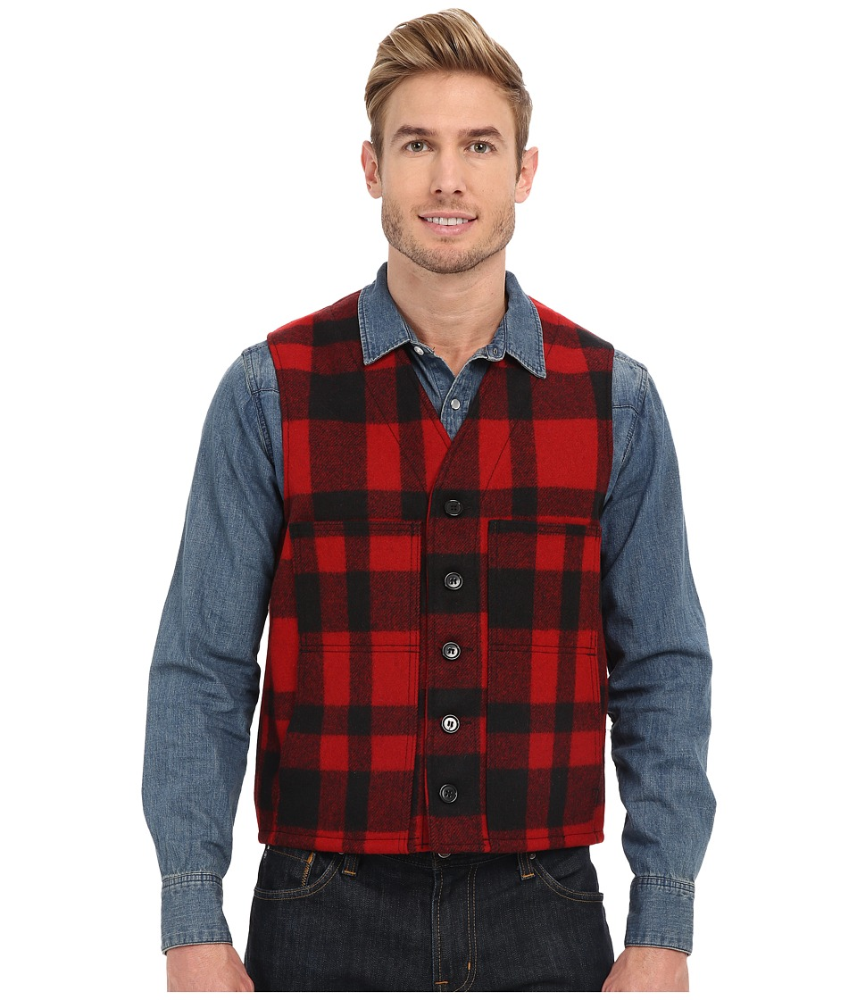 Filson - Mackinaw Wool Vest (Red/Black) Men's Vest