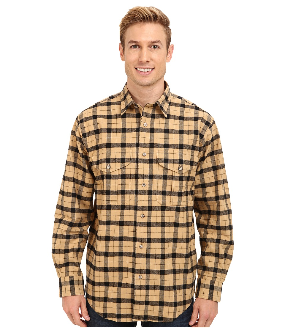 Filson - Alaskan Guide Shirt (Camel/Black) Men's Long Sleeve Button Up