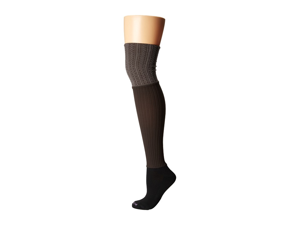 BOOTIGHTS - Darby Ellevators Cable/Rib (Chocolate Heather) Hose